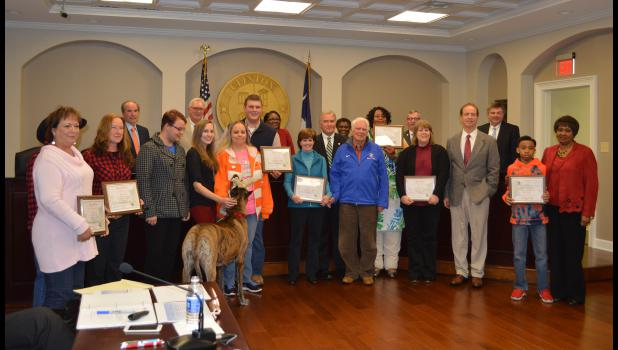 Clinton Christmas parade winners and Spirit of Clinton decorating contest winners were honored Monday night at Clinton City Council meeting